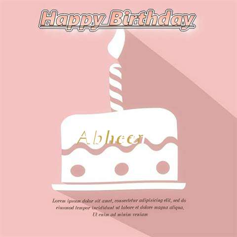 Happy Birthday Abheer