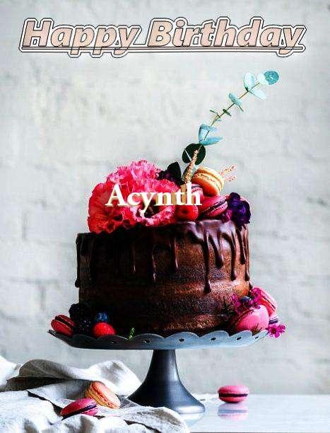 Happy Birthday Acynth Cake Image