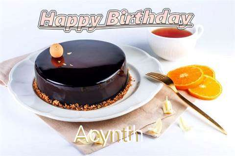 Happy Birthday to You Acynth