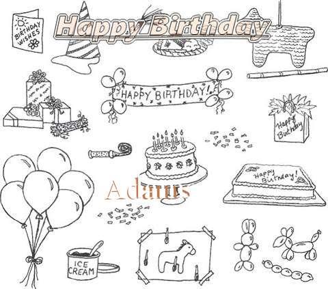 Happy Birthday Cake for Adams
