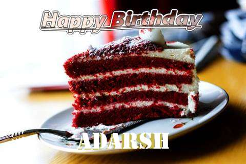 Happy Birthday Cake for Adarsh