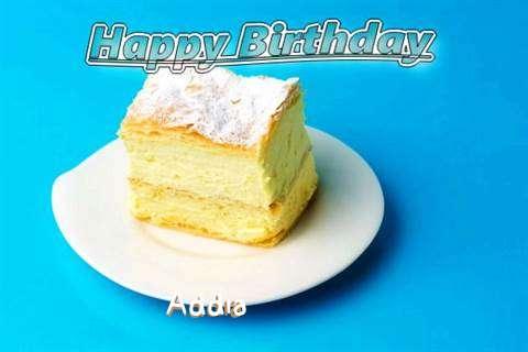 Happy Birthday Addia Cake Image