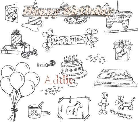 Happy Birthday Cake for Addie