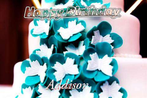 Birthday Wishes with Images of Addison