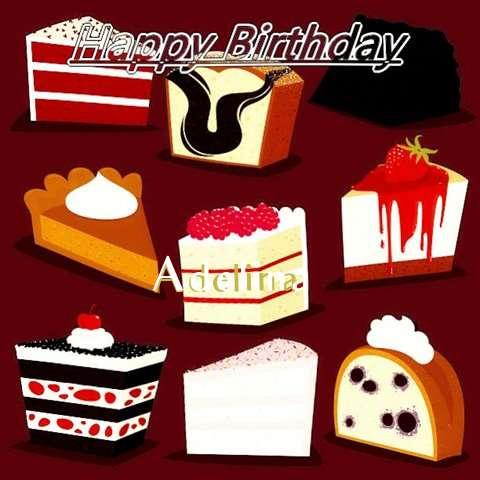 Happy Birthday Cake for Adelina