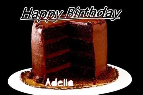 Happy Birthday Adella Cake Image