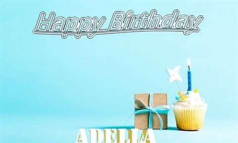 Happy Birthday Cake for Adella