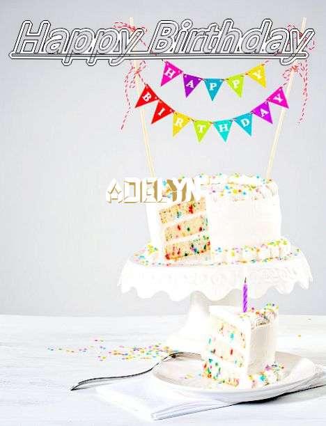 Happy Birthday Adelyn Cake Image