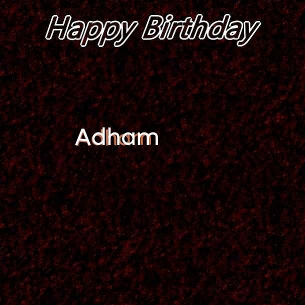 Happy Birthday Adham Cake Image