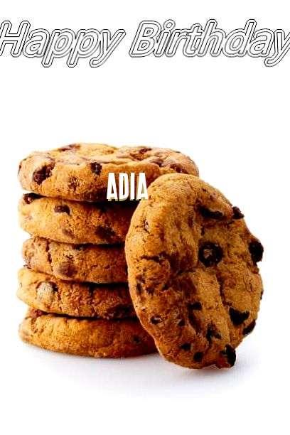 Happy Birthday Adia Cake Image