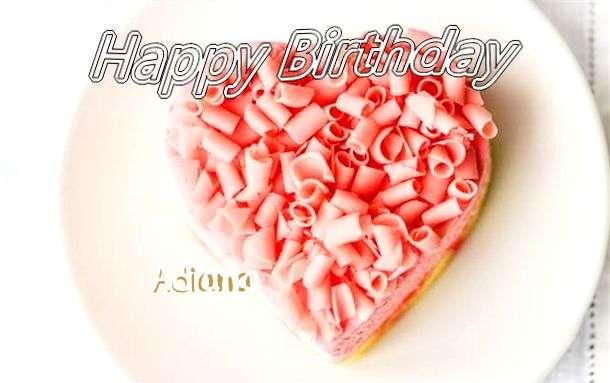 Happy Birthday Wishes for Adiana