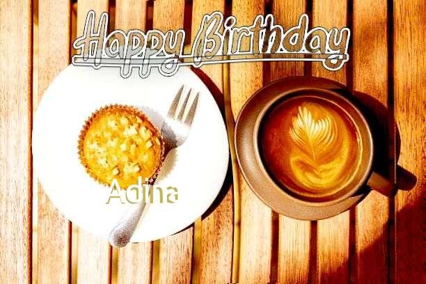 Happy Birthday Adina Cake Image