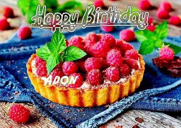 Happy Birthday Adon Cake Image