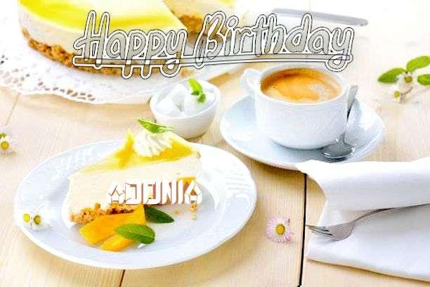 Happy Birthday Adonia Cake Image