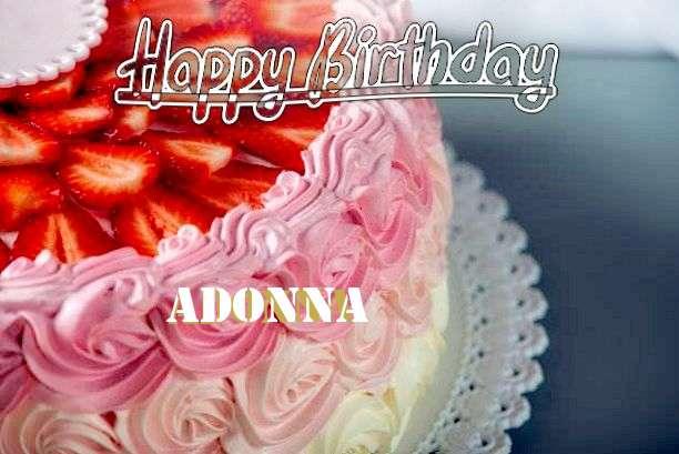 Happy Birthday Adonna Cake Image