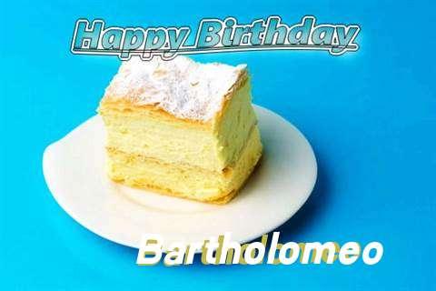 Happy Birthday Bartholomeo Cake Image