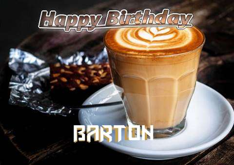 Happy Birthday Barton Cake Image