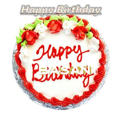 Happy Birthday Cake for Basant