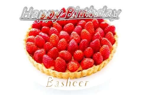 Happy Birthday Basheer Cake Image