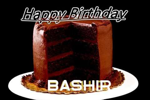 Happy Birthday Bashir Cake Image