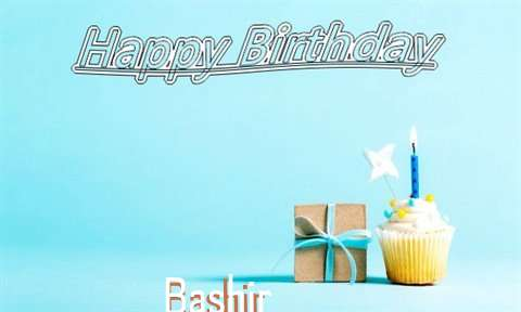 Happy Birthday Cake for Bashir