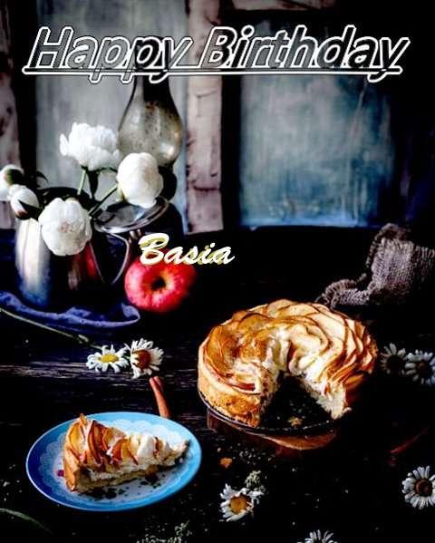 Happy Birthday Basia Cake Image