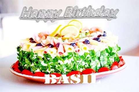 Happy Birthday Cake for Basil