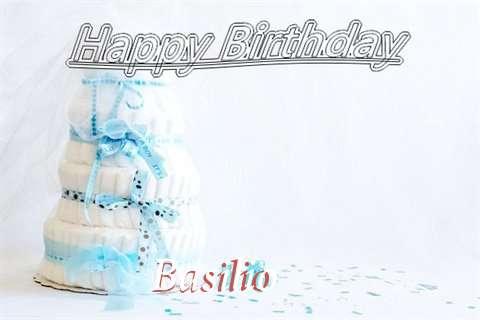Happy Birthday Basilio Cake Image