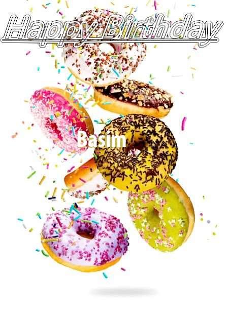 Happy Birthday Basim Cake Image