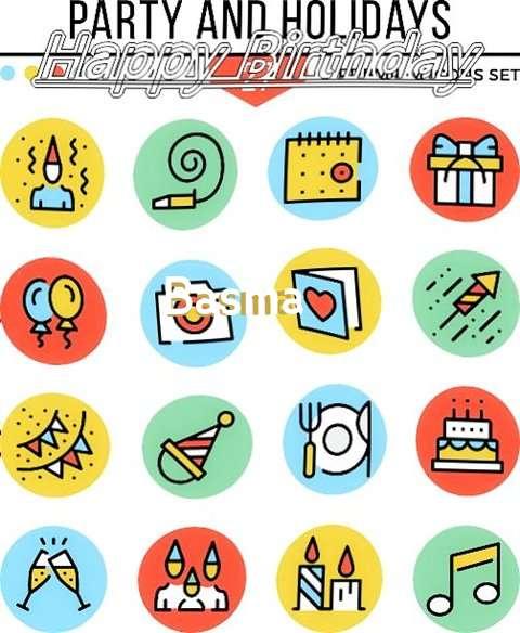 Happy Birthday Basma Cake Image