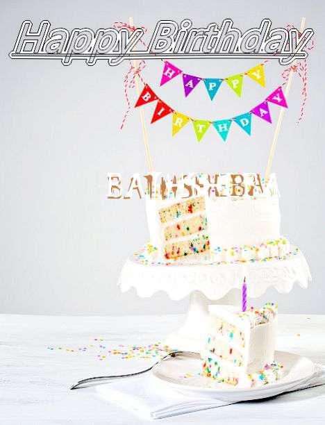 Happy Birthday Bathsheba Cake Image