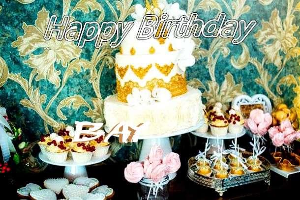 Happy Birthday Bay Cake Image