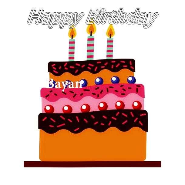 Happy Birthday Bayan Cake Image