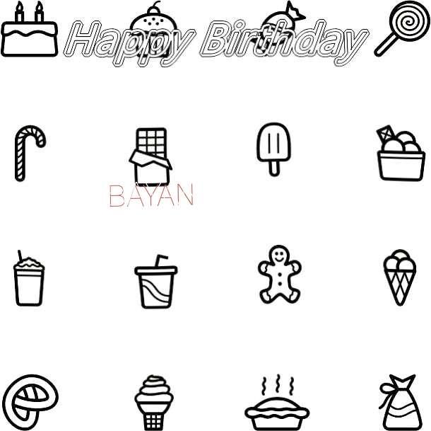 Happy Birthday Cake for Bayan