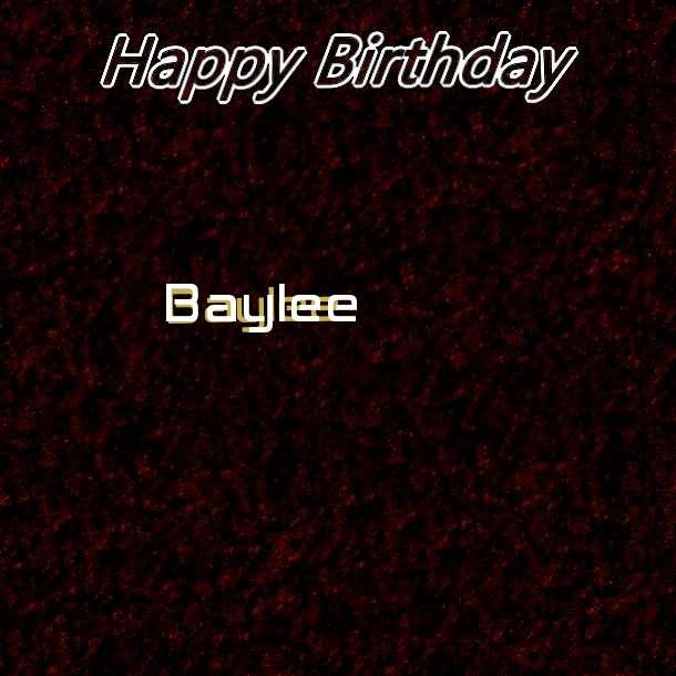 Happy Birthday Baylee Cake Image