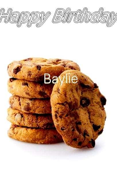 Happy Birthday Baylie Cake Image