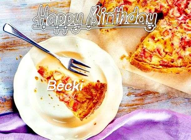 Happy Birthday to You Becki