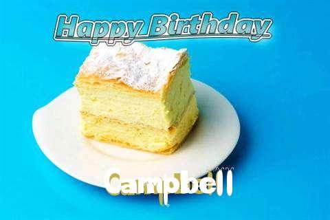 Happy Birthday Campbell Cake Image