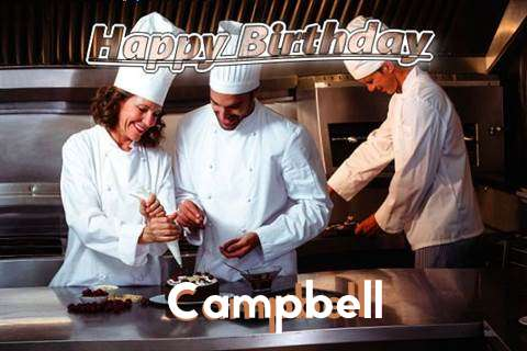 Happy Birthday Cake for Campbell