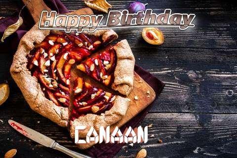 Happy Birthday Canaan Cake Image