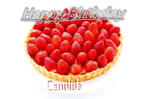 Happy Birthday Candida Cake Image