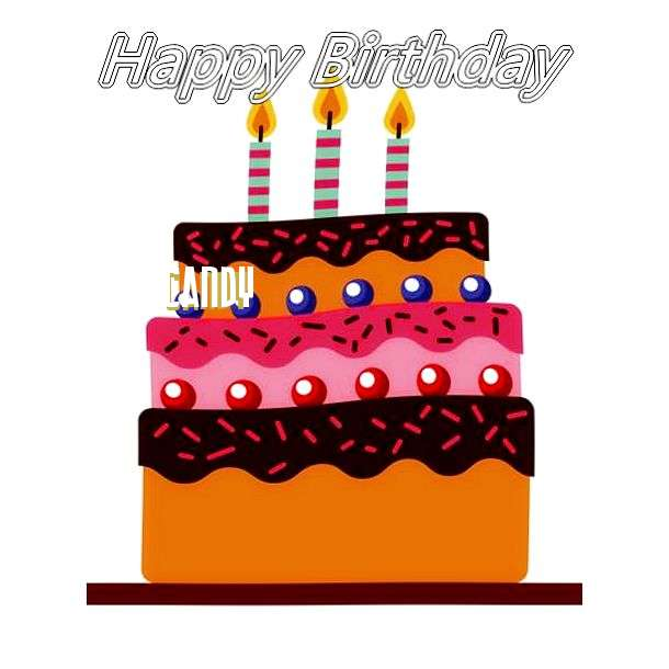 Happy Birthday Candy Cake Image