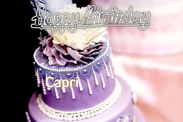 Happy Birthday Capri