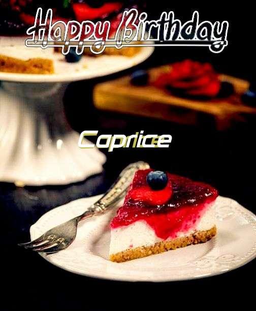 Happy Birthday Wishes for Caprice