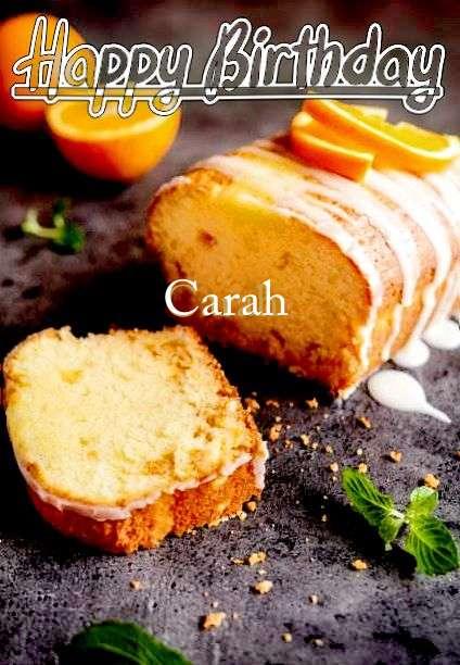 Happy Birthday Carah Cake Image