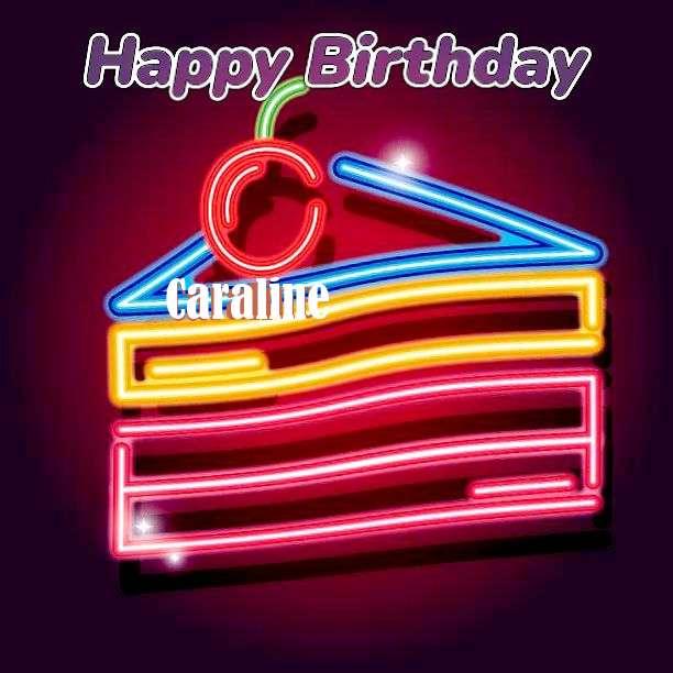 Happy Birthday Caraline Cake Image