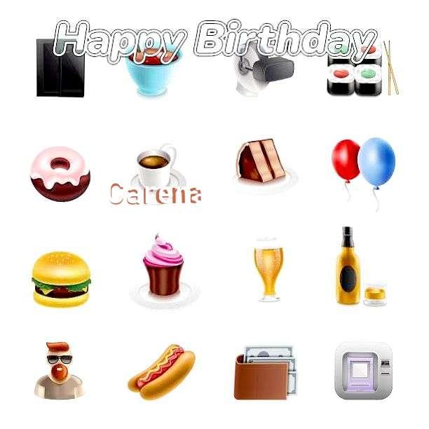 Happy Birthday Carena Cake Image