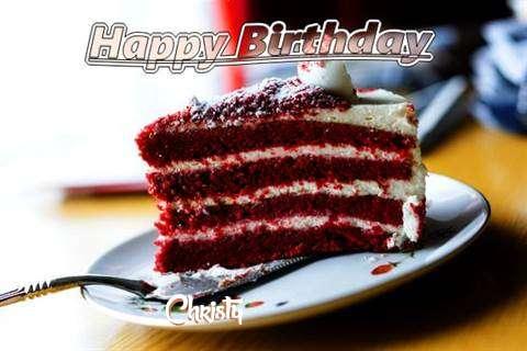 Happy Birthday Cake for Christy
