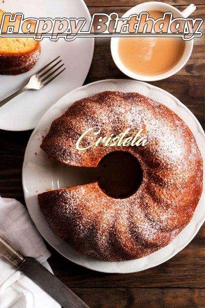 Happy Birthday Cristela Cake Image