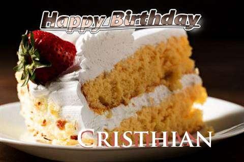 Happy Birthday Cristhian